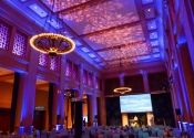 dramatic lighting and projection for bently reserve gala