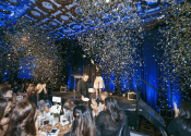 confetti cannon used at MPI Gala at Julia Morgan ballroom in San Francisco.