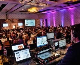 Avista Rentals AV full service conference  and event production service setup.