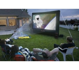 Exceptionnel ... 12 Foot Inflatable Movie Screen Rental In Backyard