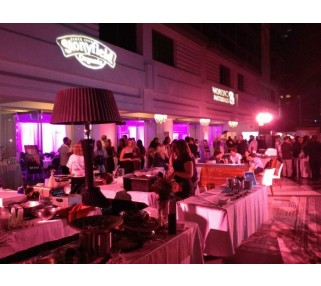 Event Lighting Design Installation at SLS Hotel in Beverly Hills