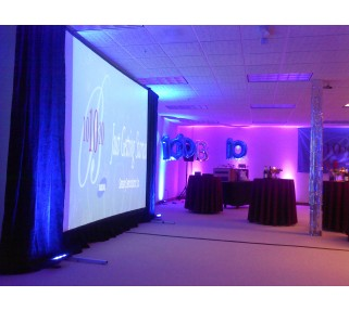 9x12 large projection screen and skirt rentals san jose san francisco los angeles