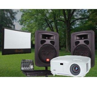 Medium Outside Screen and Projector Rental Package San Francisco Bay Area