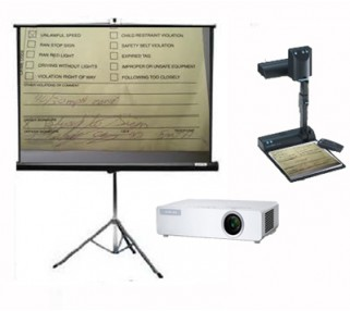 LCD Projector with Document Camera and Screen Rentals