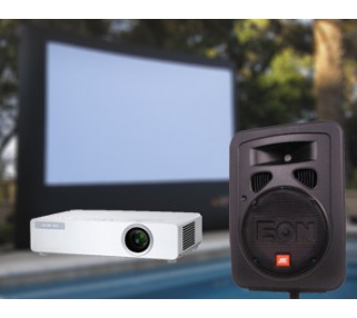 Outside Movie Projector and Screen Rentals San Francisco Bay Area and Greater Los Angeles