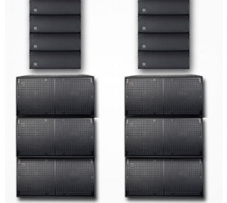 Large DAS line array speaker rental los angeles