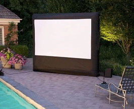 Avista Rentals outdoor inflatable screen setup for consumer AV rental.